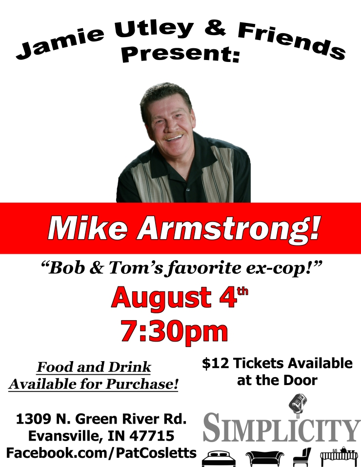 comedian mike armstrong flyer