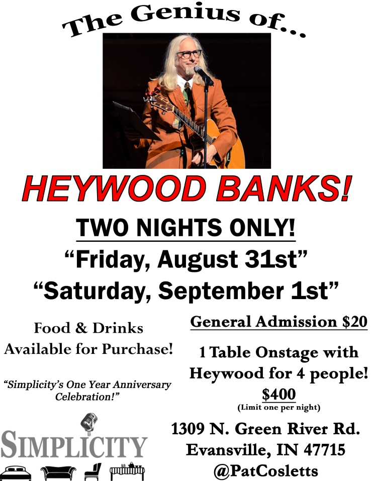 heywood banks comedy show flyer evansville