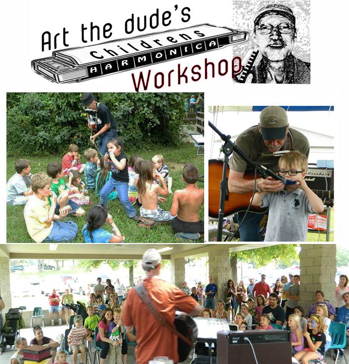 art the dude harmonica workshop flyer evansville
