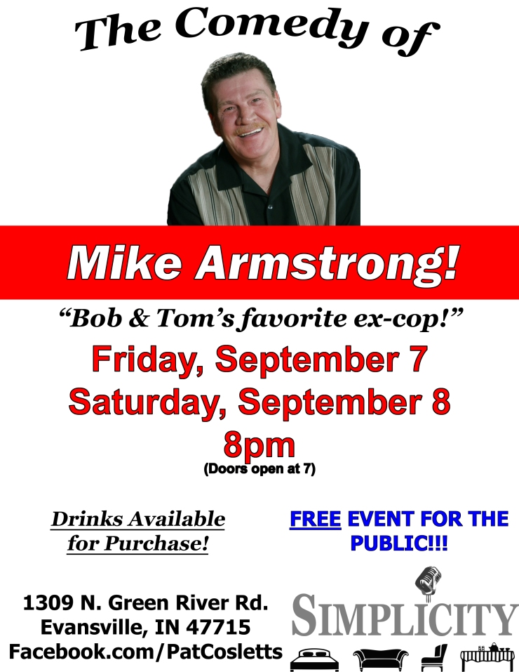mike armstrong comedian flyer evansville