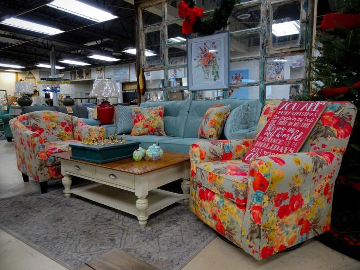 colorful sofa chair pat coslett simplicity furniture evansville