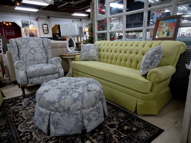 traditional rocking sofa chair and pillows pat cosletts simplicity furniture evansville