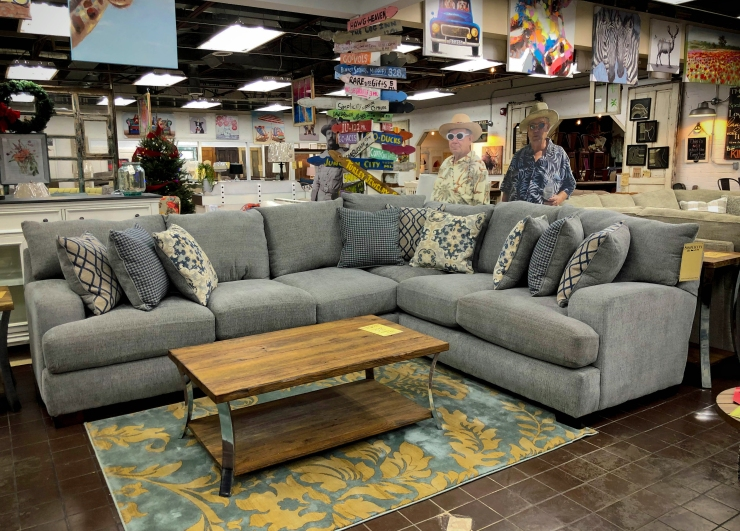 plush sectional sofa pat coslett simplicity furniture evansville