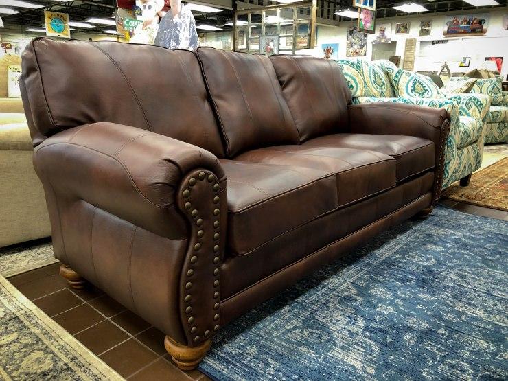 genuine leather sofa pat cosletts simplicity furniture evansville