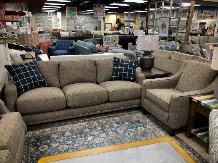 upholstery sofa chair couch nailhead pillows pat cosletts simplicity furniture evansville