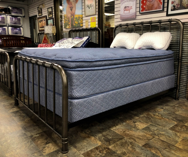 mattress boxspring pillows bed pat cosletts simplicity furniture evansville
