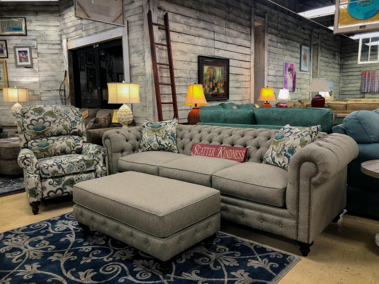 chesterfield sofa ottoman chair rug pat coslett simplicity furniture evansville
