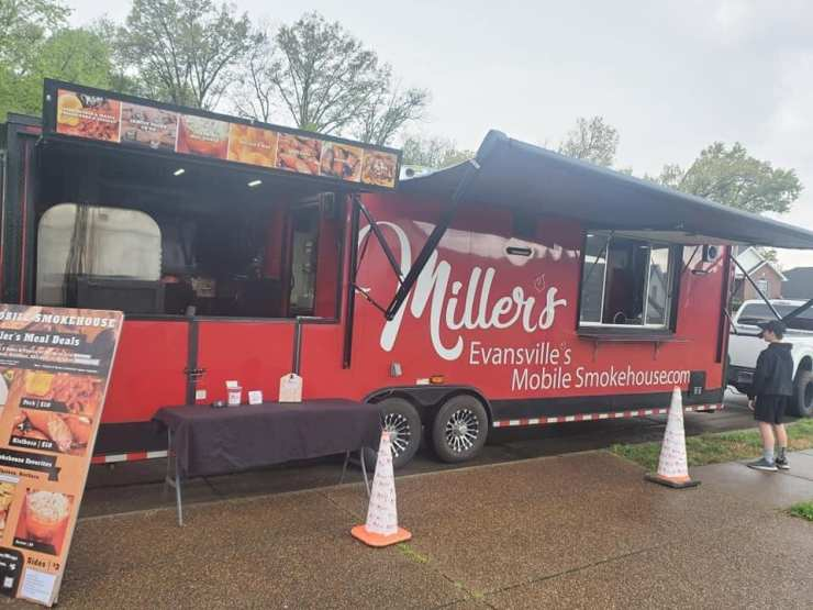 miller's bbq evansville mobile smokehouse food truck